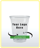 custom printed biodegradable corn cup_yourlogo here_small