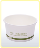 custom printed compostable bowl plain 12oz thin background small Soup Containers