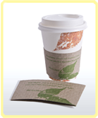 custom printed compostable paper hot cup leaf with sleeve small Home